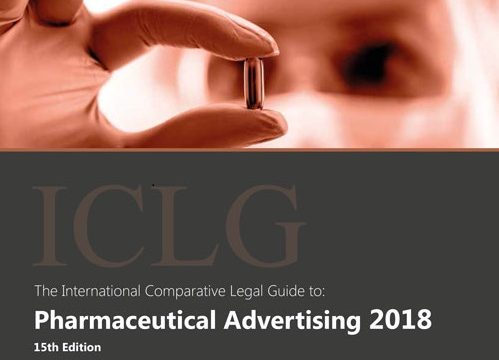 Participation of our law firm in the International Comparative Legal Guide to: Pharmaceutical Advertising 2018