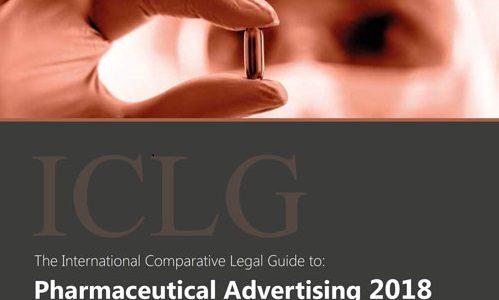 Συμμετοχή της εταιρείας μας στο International Comparative Legal Guide to: Pharmaceutical Advertising 2018